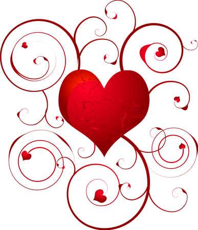 would: Floreali amore cuore design che sarebbe ideale a un dono di nozze o carta di invitare