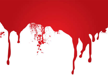 A stream of blood that is ideal as a page header or for a web site Stock Photo
