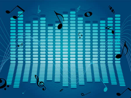 readout: Musical abstract background with a graphical noise readout Stock Photo