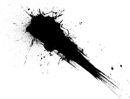 derrames: disparo de tinta  pintura s�mbolo aislado del fondo blanco ideal para colocar texto sobre  Foto de archivo
