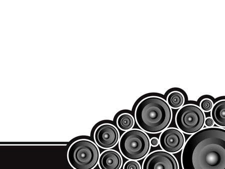 plenty: Corner speaker design with plenty of copy space in black and white