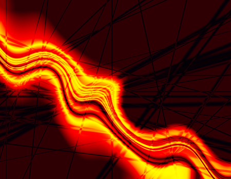 Illustrated background of a fire stream with intersecting lines Stock Photo - 1693238