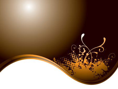 Flowing background design in burnt orange and brown colours