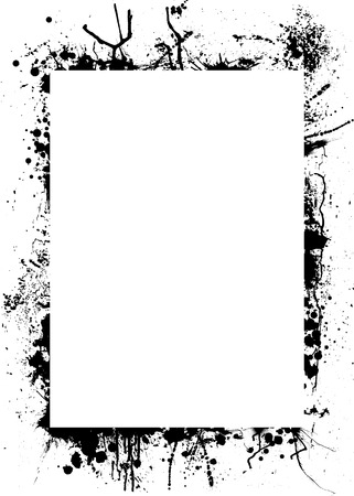 Gothic Grunge Inspired Background Border In Black And White Stock Vector
