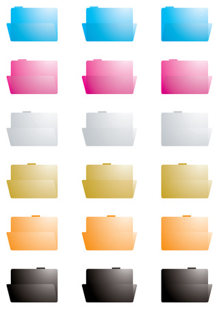 collection of folders in varies colors at different angles