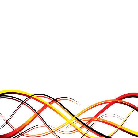 Résumé vague design en rouge et jaune, avec copie de l'espace Vecteurs