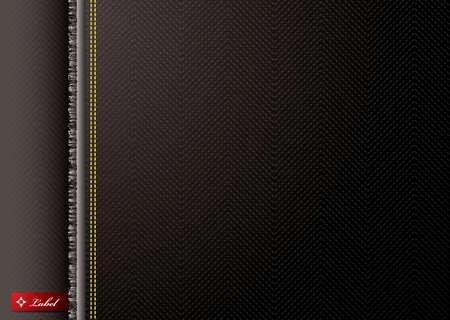 Schwarz und Silber Hintergrund Design mit einem Zig Zag Muster Standard-Bild
