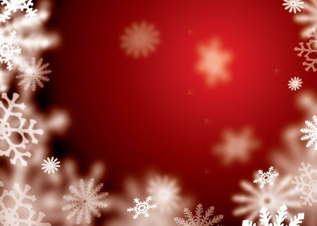 red and white abstract snow flake background with copyspace