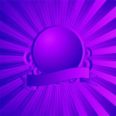 紫、マゼンタ ロゴやテキストを追加するための部屋とモダンなシールド 写真素材