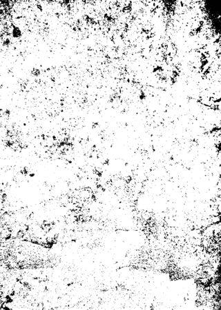 Black and white mono background with a worn grunge texture effect Vektoros illusztráció