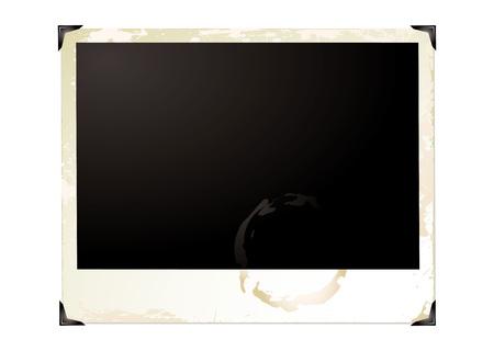 Wide screen grunge polaroid with brown grunge effect