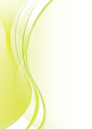 Abstract green and white background with flowing lines and copy space