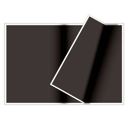 Blank magazine page curled over with shadow and copyspace Stock Vector - 4484894