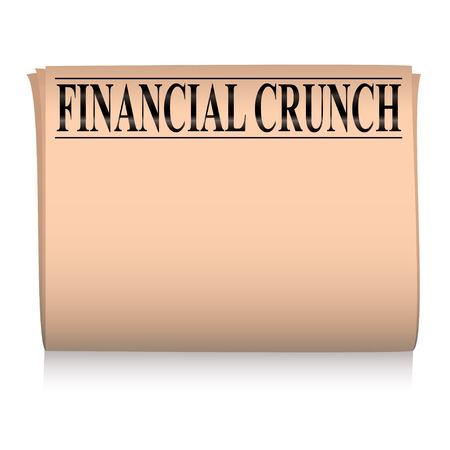 独自のテキストを追加するルームとサーモン ピンクの金融新聞  イラスト・ベクター素材