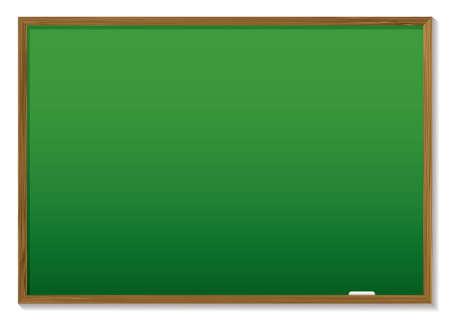 Green craie bord avec cadre en bois et d'espace pour ajouter du texte Vecteurs