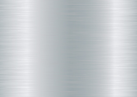 brushed aluminium background with grain effect and silver colour