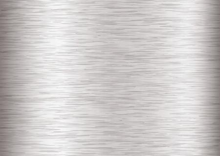 Silber Stahl Hintergrund mit Metall-Korn-und Schlaganfall-Effekt Vektorgrafik