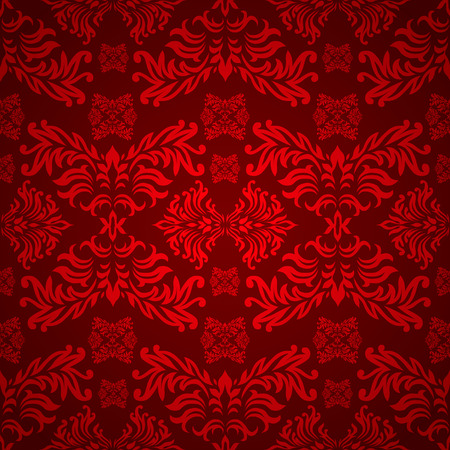red and maroon floral background with a seamless repeat design