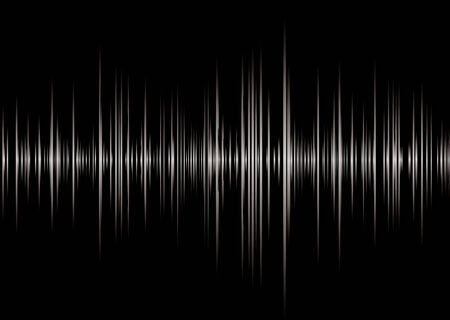 Black and silver graphic music read out with peaks and wave forms Illusztráció
