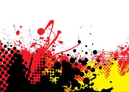 al rojo vivo con fondo abstracto copyspace blanco y los puntos a media tinta