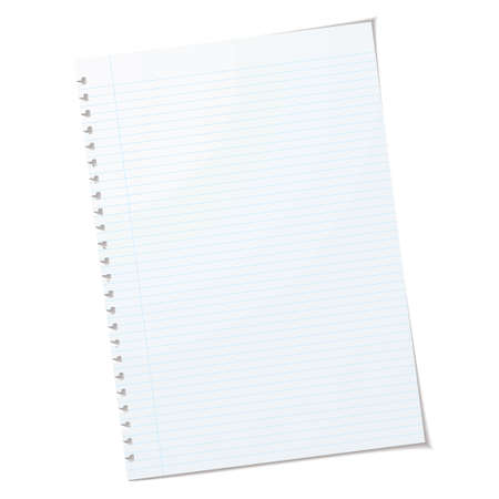 Pojedynczego kawałka papieru A4 rulled z cienia i zgrywanie dziur