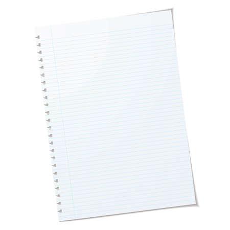 Sola pieza de papel a4 rulled con agujeros rasgados y sombra