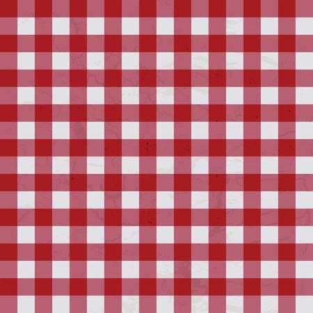 Rojo y blanco con textura de tela cuadro que hará ideal Ilustración de vector