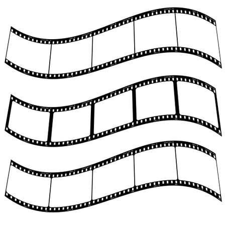 Drei leere Film Streifen mit Platz für Ihr eigenes Exemplar addd Twisted