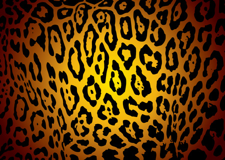 geïllustreerd gele en zwarte jaguar huid achtergrond met camouflage effect