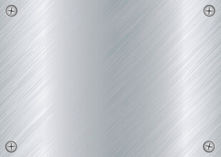 abstract Brushed silver metal background with cross head screws