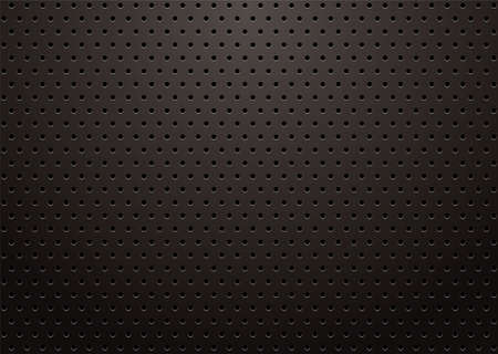 black metal grill with punched holes abstract background
