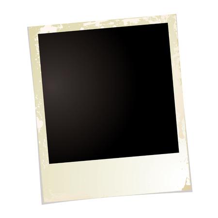 Brown grunge illustrazione con foto in bianco lo spazio per la propria immagine
