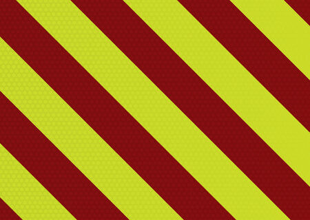 Diagonal striped warning background with hexagon pattern in red and yellow Stock Vector - 5281782
