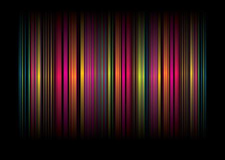 Neon arcobaleno sullo sfondo astratto con nastri di colore
