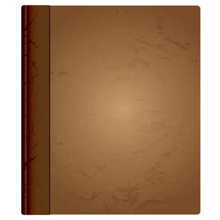 Brown aged hardback book cover with grunge effect