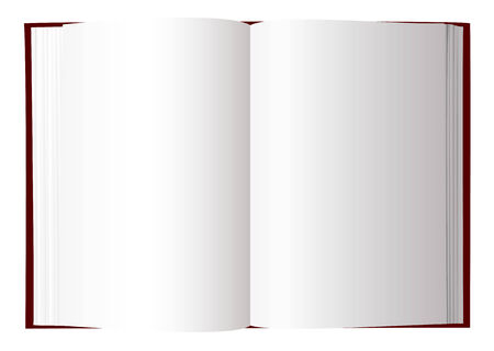 Open book with white pages and room to add text Çizim