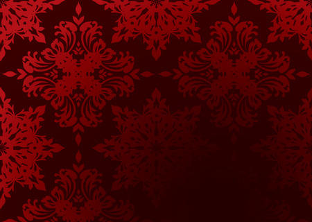 Bright Red Gothic Wallpaper With Gradient Design And Copy Space Stock Vector