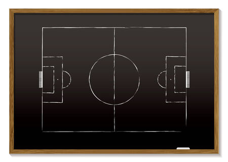 carte noire avec un bloc de bois et la craie de dessin de hauteur