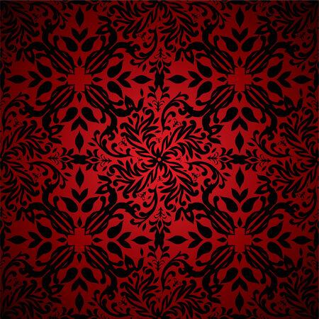 Rojo y el negro floral inspiran el diseño de fondo transparente