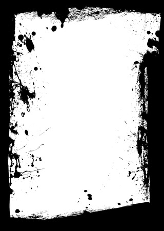 Black ink border with white copy space center Illustration
