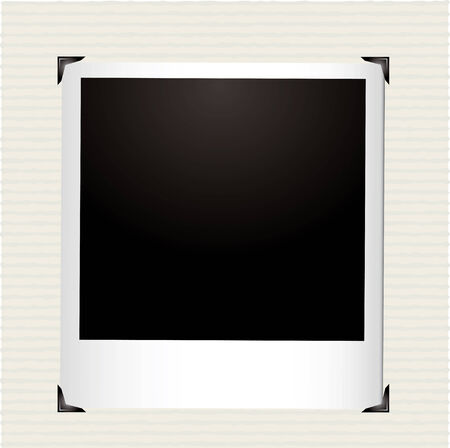 Single instant picture in a photo album with corner frame Illustration
