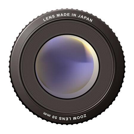 Desenfoque de lente de zoom de la cámara con icono de centro ideal Ilustración de vector