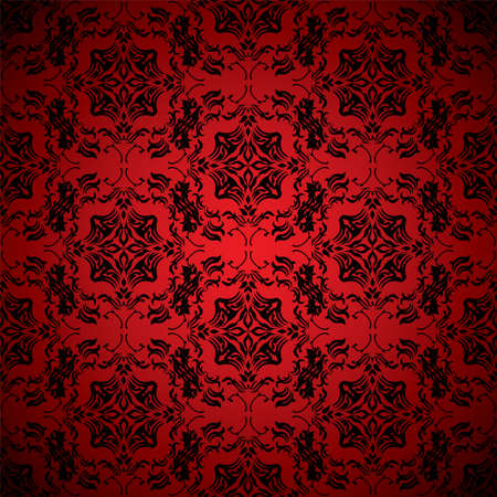 Bright blood red wallpaper with seamless repeating design Illustration