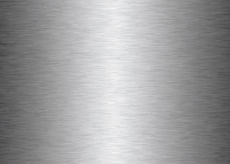 Fondo de metal de aluminio afelpado gris con la reflexión de luz de plata