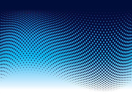 Abstract ocean wave background in blue with copy space Vetores