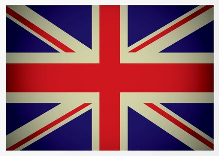 Aged great british flag icon with red white and blue colours Stock Photo - 6416327