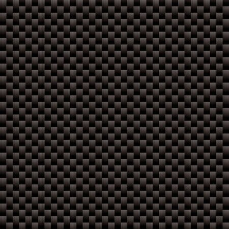 Seamless woven carbon fiber illustrated background with repeat pattern texture Standard-Bild