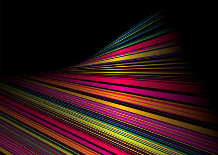 Black background with rainbow twisted effect and copy space