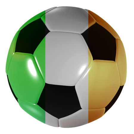 Traditional black and white soccer ball or football irish photo