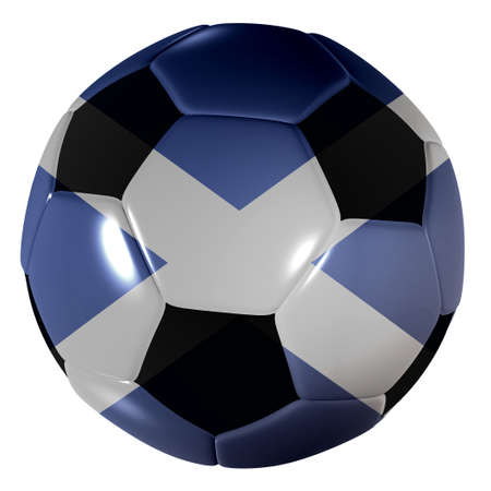 scotish: Traditional black and white soccer ball or football scotland